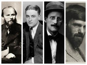 Dostoievski, Fitzgerald, Joyce, Lawrence