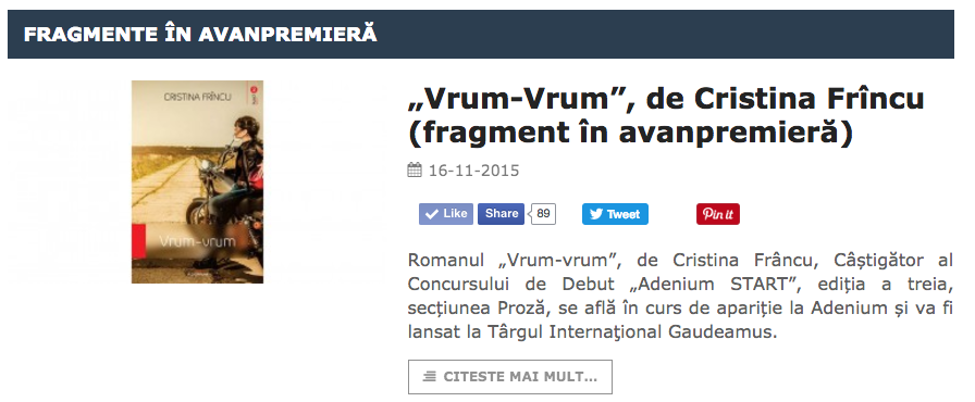 fragment in avanpremiera vrumvrum